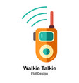walkie talkie flat icon vector image