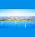 wind turbine energy renewable water station field vector image