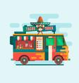 food truck festival menustreet food vehicles flat vector image