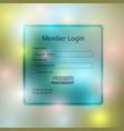 member login template vector image