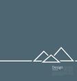 Logo of egyptian pyramid symbol of tourism minimal vector image