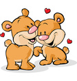 bear in love isolated on white background vector image