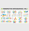 3d perspective infographics pack - vol one vector image vector image