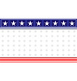 Abstract american flag decoration banner