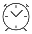 alarm clock line icon wake up time vector image