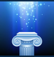 antique capital in blue light vector image vector image