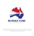 australia map travel logo designs vector image