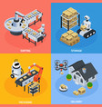 automatic logistics concept icons set vector image vector image