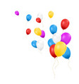 balloons isolated composition of balloons vector image vector image