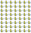 bee wallpaper on white background vector image vector image