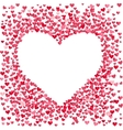Blank heart made of small confetti hearts vector image