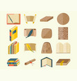 books icons document magazine publication vector image
