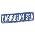 caribbean sea sign or stamp vector image vector image