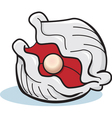 Cartoon Oyster with Pearl vector image vector image
