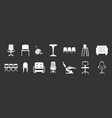 chair icon set grey vector image