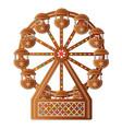 christmas cookies gingerbread ferris wheel vector image vector image