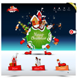 Christmas night website template vector image