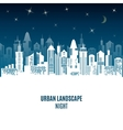 City urban design Night landscape vector image vector image