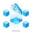 cloud services concept 05 vector image vector image