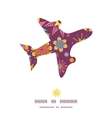 colorful stars airplane silhouette pattern frame vector image