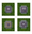 cpu microprocessors microchip brochure vector image vector image