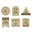 craft labels with tigridia vector image