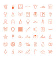 decorative icons vector image vector image