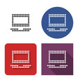 dotted icon laptop in four variants with short vector image