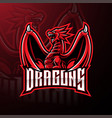 dragon sport mascot logo design vector image vector image