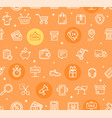 ecommerce online service pattern background vector image vector image
