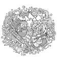 figi hand drawn cartoon doodles vector image vector image