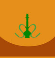 flat icon with dark shadow hookah and hookah vector image vector image