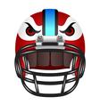 Football helmet with eyes vector image vector image