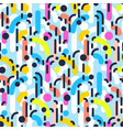 geometric abstract seamless pattern linear motif vector image vector image