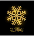 golden glitter snowflakes christmas background vector image vector image