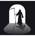 Grim reaper silhouette vector image