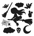 halloween for cut plottering clipart vector image