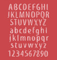 hand drawn letters stylish font abc vector image vector image