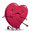 Heart wounded isolated vector image vector image