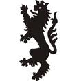 heraldic lion tattoo black white silhouette vector image vector image