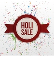Holi Sale indian Festival colorful Banner vector image