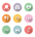 icon set activity and rest color with shadow vector image vector image