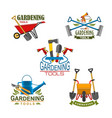 icons of farm gardening tools vector image
