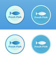 Icons of Fish with caption vector image vector image