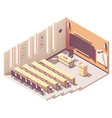 isometric university lecture hall vector image vector image