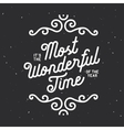 it is most wonderful time year vector image vector image