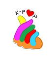 korean pop music k-pop love sign hand gesture vector image vector image