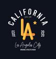 la los angeles california t-shirt design vector image vector image