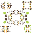 Leaves frame - set vector image vector image