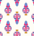made in united kingdom banner seamless pattern vector image
